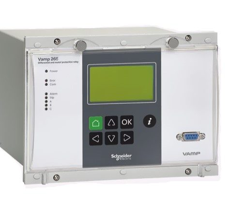 "vamp 265 1 <p style=""padding-right: 40px;text-align: left"">VAMP 265 GENERATOR, TRANSFORMER AND MOTOR DIFERENTIAL PROTECTION RELAY</p> <p style=""padding-right: 40px;text-align: left"">The protection functions, many communication protocols and numerous auxiliary functions make the VAMP 265 perfect for utility and industrial power generation applications. The VAMP 265 relay is, together with the generator protection relay VAMP 210, used for protection of the generator. The overcurrent and earth-fault protection functions are used as back-up protection.</p>"
